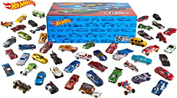 Hot Wheels Pack 50 Vehículos, coches de juguete (modelos ...