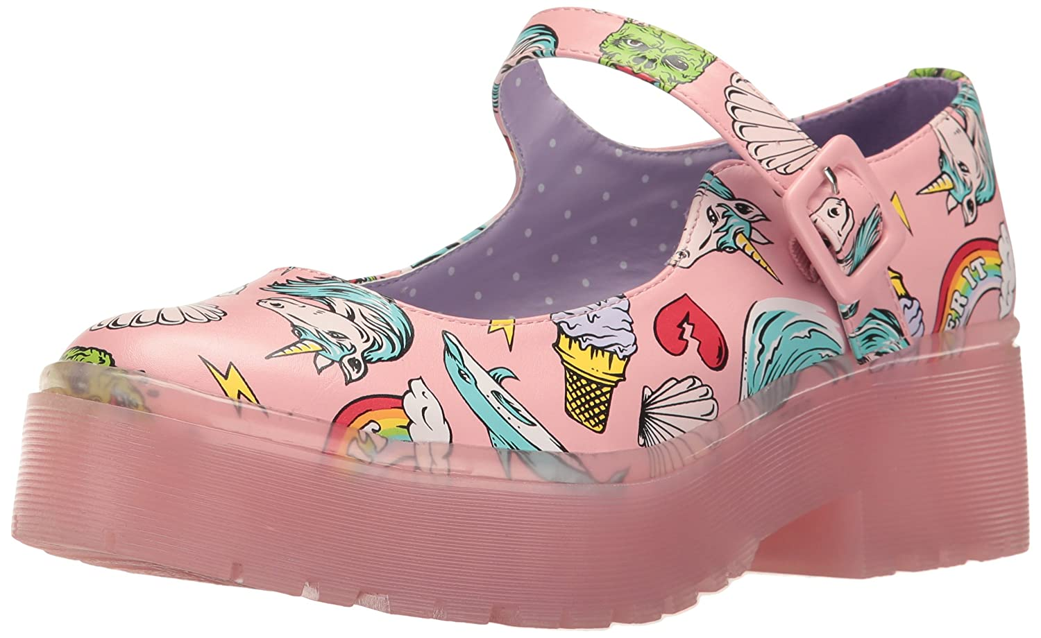 Iron Fist Women's Over It Cleated Mary Jane Flat B06XBYVS8X 7 Standard US Width US|Pink