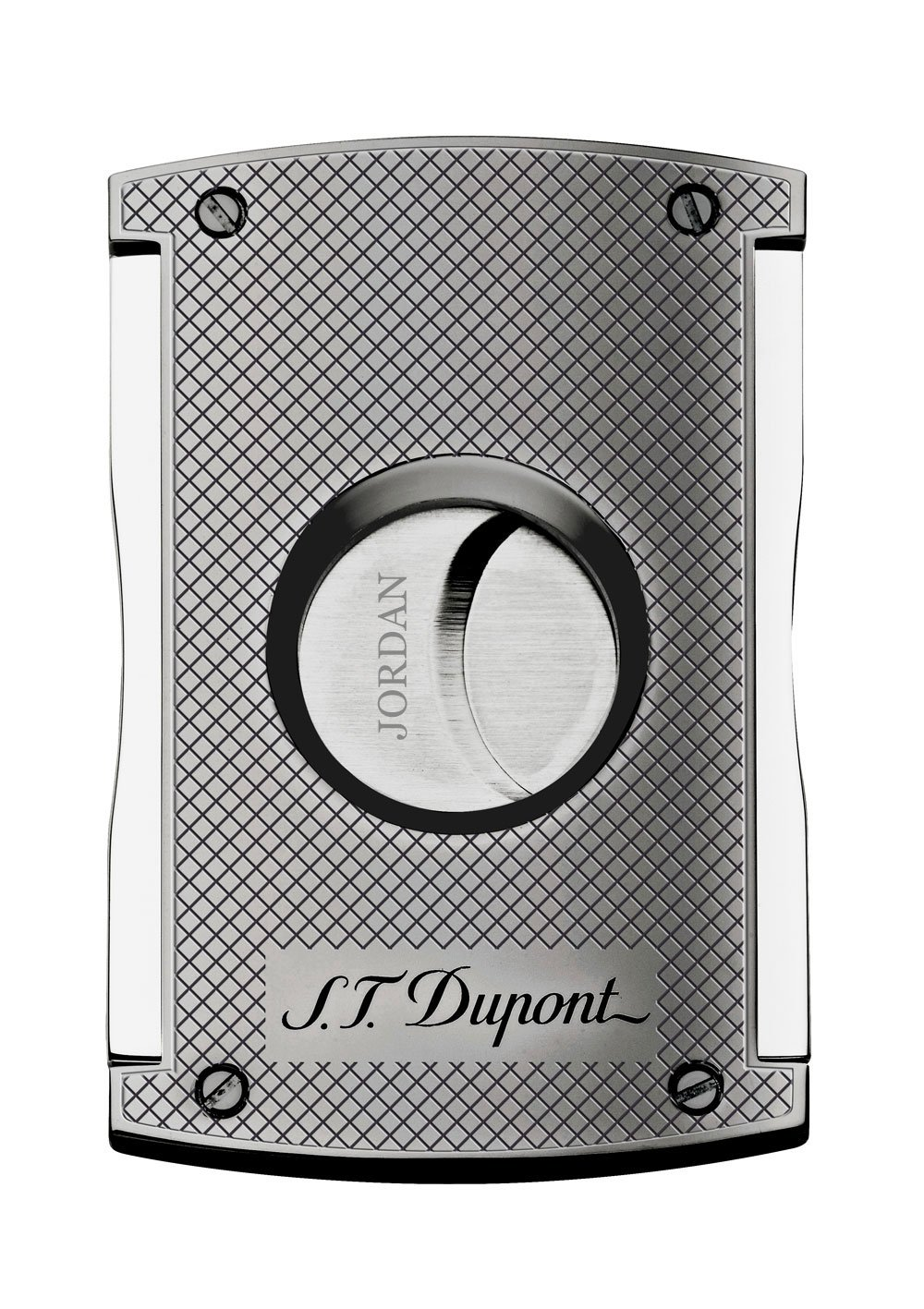 Personalized S.T. Dupont Chrome Grid MaxiJet Cigar Cutter with Free Laser Engraving