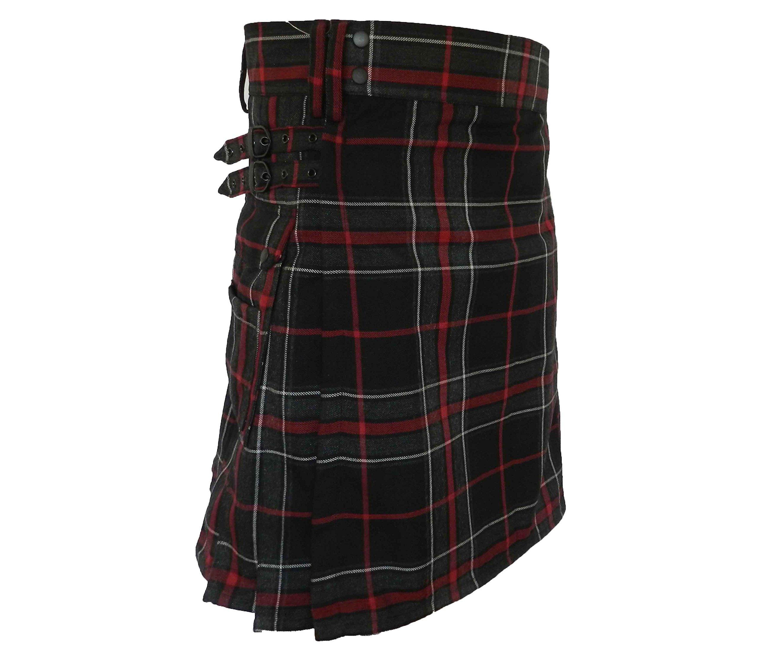 UT Kilts Spirit of the Highlander Tartan Utility Kilt (38, Spirit of the Highlander)