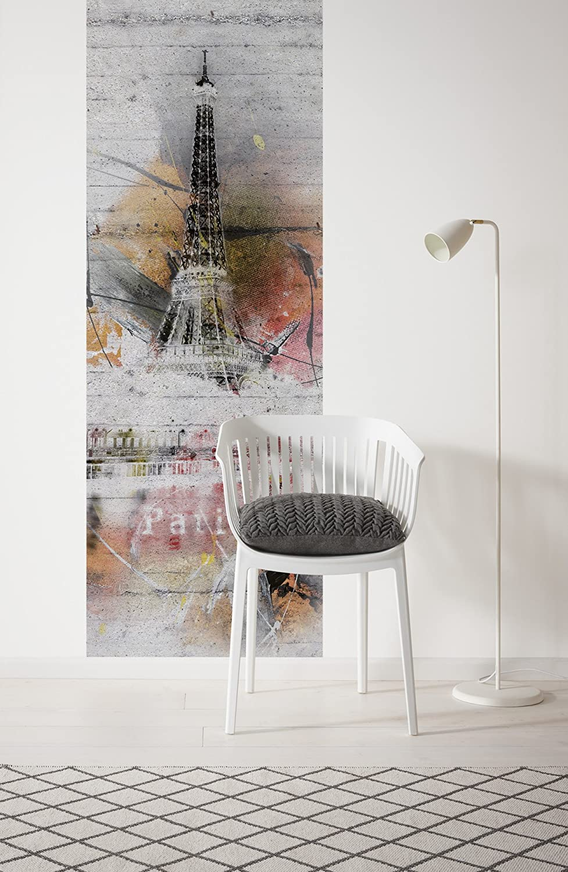 1315-DV1 Komar Frankreich 100x280cm Betonwand Vlies Fototapete PARIS Graffiti Tapete Retro Wand Dekoration