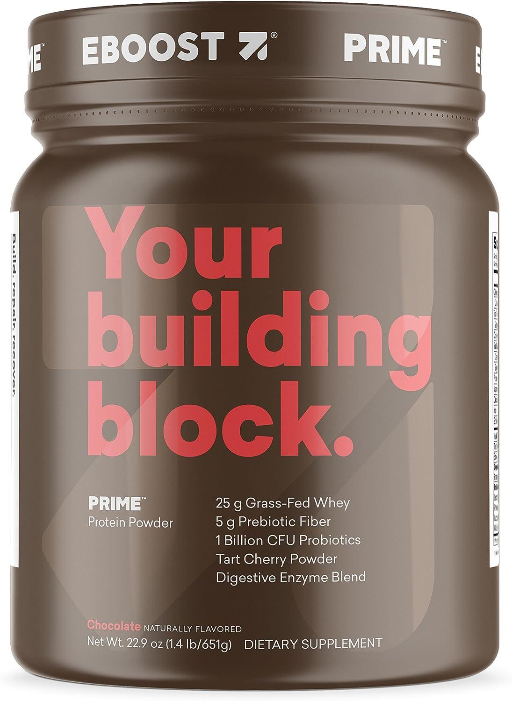 Eboost Grass Fed Whey Protein Powder Tub 20.7 oz Chocolate