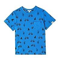 art & eden Boy's 100% Organic Cotton Crew Neck T-Shirt