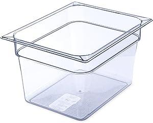 Carlisle 10223B07 StorPlus Half Size Food Pan, Polycarbonate, 8