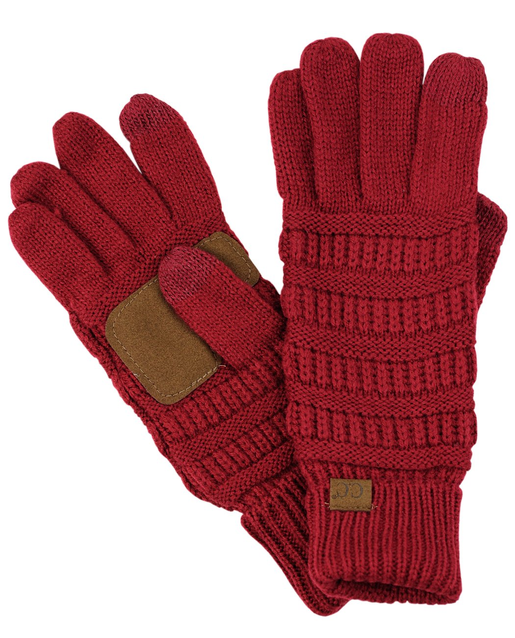 C.C Unisex Cable Knit Winter Warm Anti-Slip Touchscreen Texting Gloves