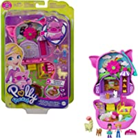 Polly Pocket Cofre con forma de cerdito en la granja, con muñecas y mascotas, juguete para niñas y niños +4 años (Mattel…