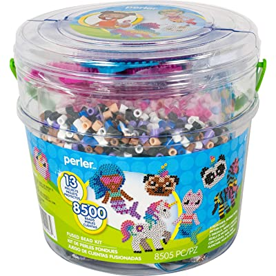 Perler PER8042963 Mystical Creatures Fuse Bead Kit, 8505pc, 13 Patterns, Multicolor: Toys & Games