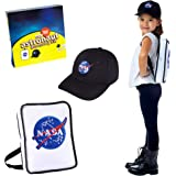 Born Toys Premium Astronaut NASA Bag and NASA hat Set for Astronaut Costume for Kids