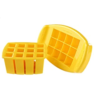 FunBites Food Cutter for Kids, Yellow Squares