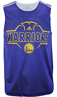 adidas Golden State Warriors NBA Mens Overtime Hustle Hoops Tank - Blue