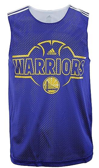 Adidas Golden State Warriors NBA Men s Overtime Hustle Hoops Tank - Blue  (Small) 962b8df39
