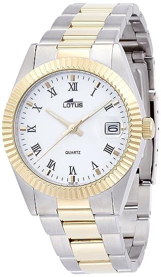 LOTUS CLASSIC 15197/1 DE ACERO BICOLOR PARA HOMBRE NUEVO GARANTIA 2 AÑOS: LOTUS: Amazon.es: Relojes