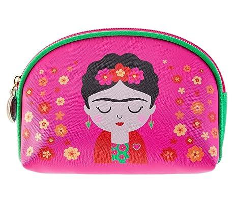 Sass & Belle Viva La Frida Kahlo - Neceser, diseño floral, color rosa y