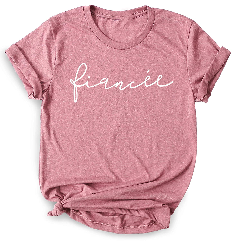 Bridal Shower T-Shirt Engagement Shirt Bachelorette Party Shirt Wedding Party TShirt Custom Future Mrs Shirt Fiance T Shirt For Women