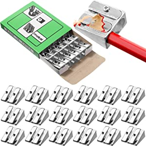 84 Pieces Double Hole Pencil Sharpeners Aluminum Alloy Manual Pencil Sharpeners Metal Pencil Sharpener Handheld Pencil Sharpener Small Manual Pencil Sharpener for School, Office, Home, Art Projects