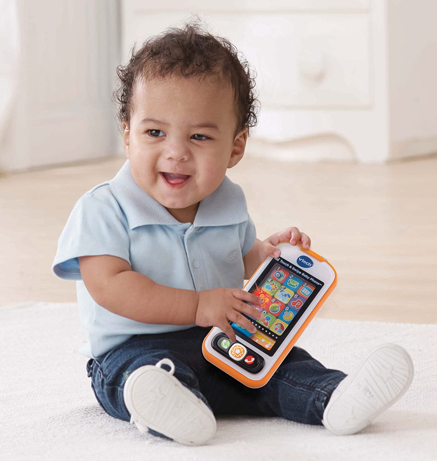 Amazon VTech Touch & Swipe Baby Phone Frustration Free