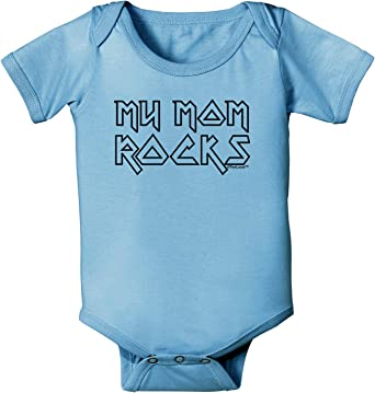 Mothers Day Baby Romper Bodysuit TooLoud My Mom Rocks
