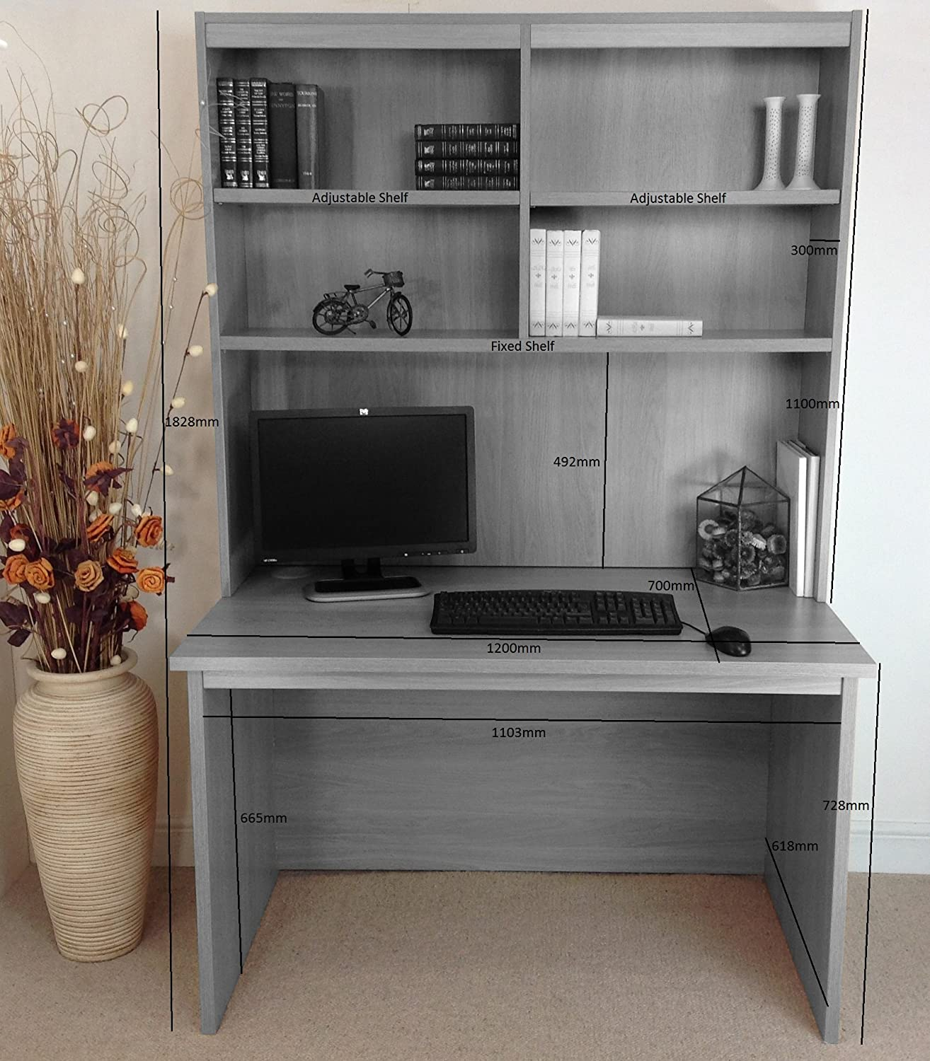 hutch design desk computer bookshelf all office with your items shaped store through l
