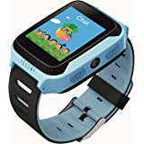 Wayona Kids Tracker Touch screen Smart Wrist Watch with Remote Camera Capture GPS & GSM System with flashlight . (Blue)