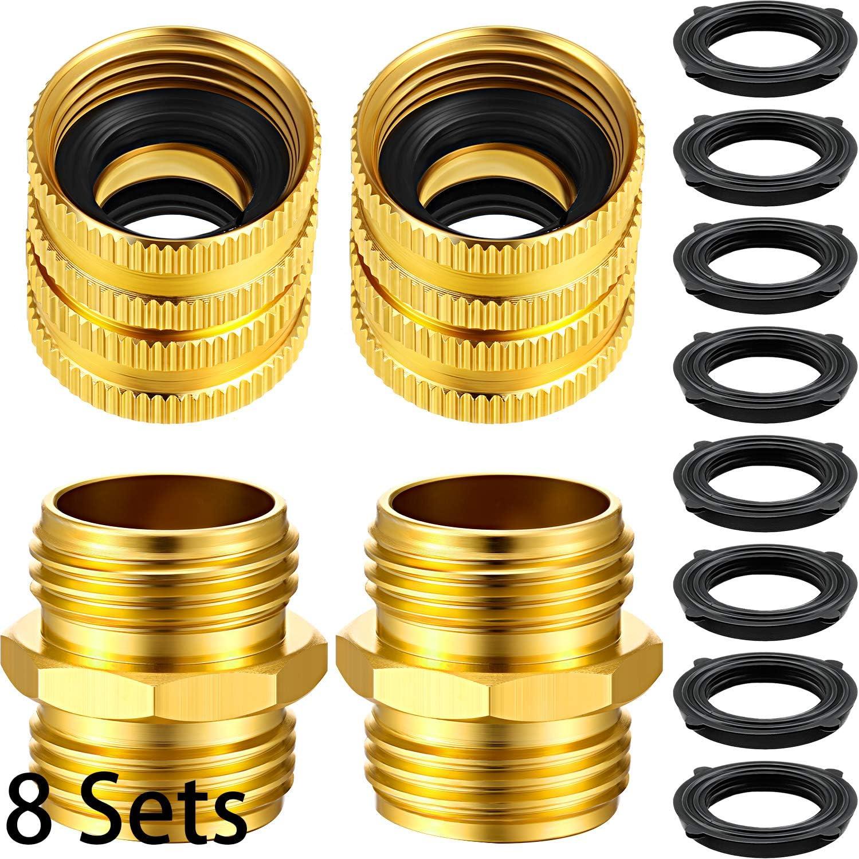 Female To Female 3//4 Inch Brass Con Male To Male M Mingle Garden Hose Adapter