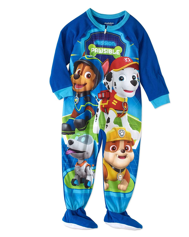 Paw Patrol Crew Robo-Dog Boy's Fleece Footed Blanket Pajama Sleeper