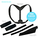 Posture Corrector - Back Support Brace with Adjustable Clavicle Shoulder Straps -Wearable Under Shirt - Comfortable Cervical Spine Correction Device for Women, Men, Teens, and XXL Adults
