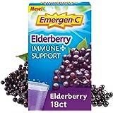 Emergen-C Immune+ Vitamin C 1000mg (18 Count, Elderberry) Dietary Supplement Fizzy Drink Mix Powder Packets