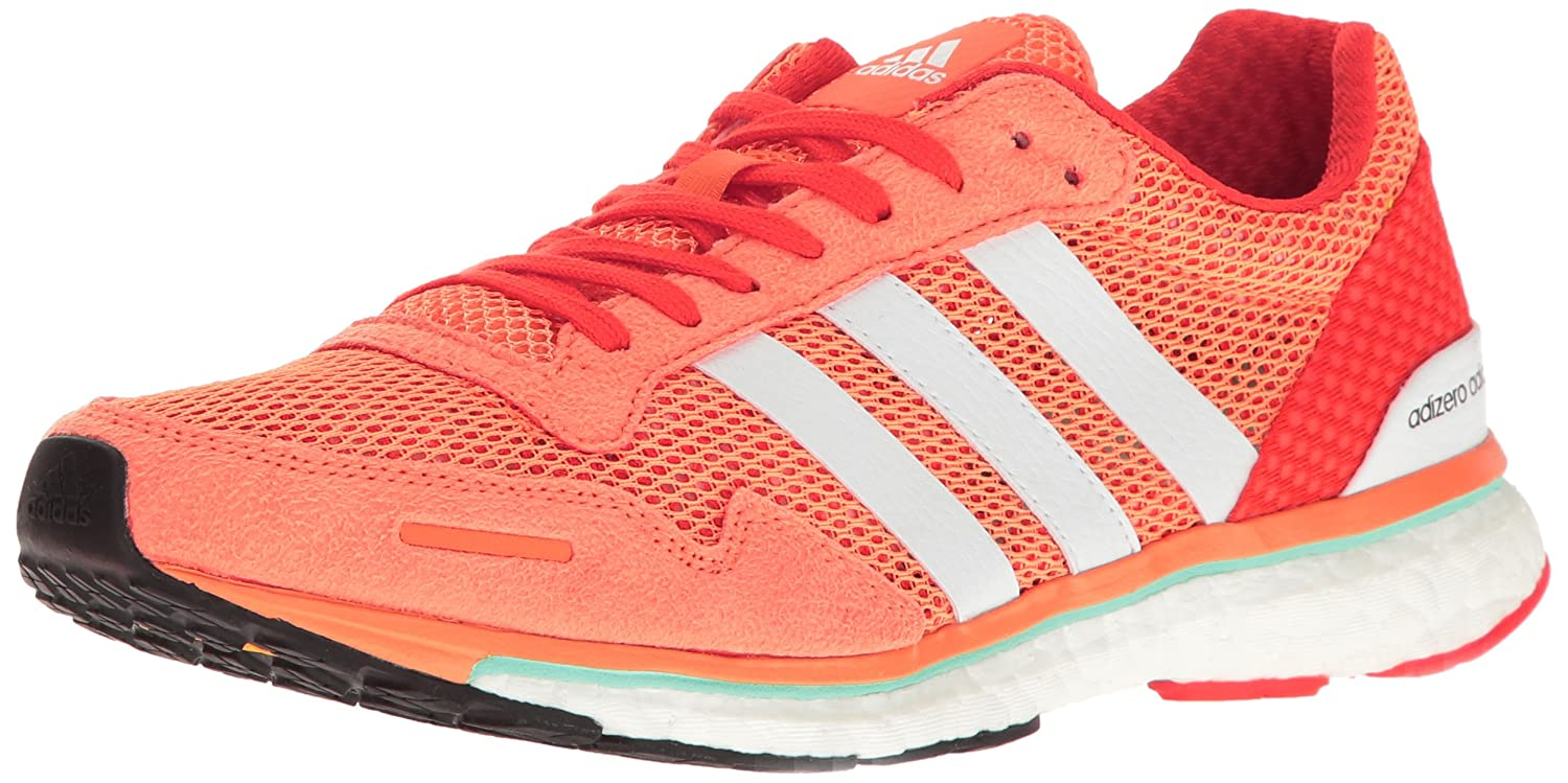 adidas Women's Adizero Adios W Running Shoe B01MDLJ97R 10.5 B(M) US|Easy Orange White/Energy S