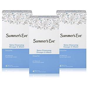 (Pack of 12 Bottles) Summer's Eve Extra Cleansing Douche Vinegar & Water, Feminine Wash, 4.5oz Bottles. PH Balanced, Naturally Inspired, Gynecologist Tested (Pack of 12 Bottles, 4.5oz Each Bottle)