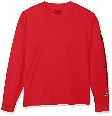 8e05c70b Champion Mens Classic Jersey Long Sleeve Graphic Tee: Amazon.co.uk: Clothing