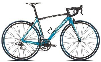 Torpado - Bicicleta de carretera Celeste, 10 v, de carbono, talla 49, colores negro y azul (carrera en carretera): Amazon.es: Deportes y aire libre