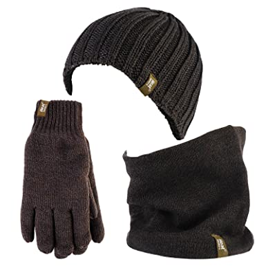 e07ee905a6c Heat Holders - Thermal Winter Fleece Cable Knit Hat