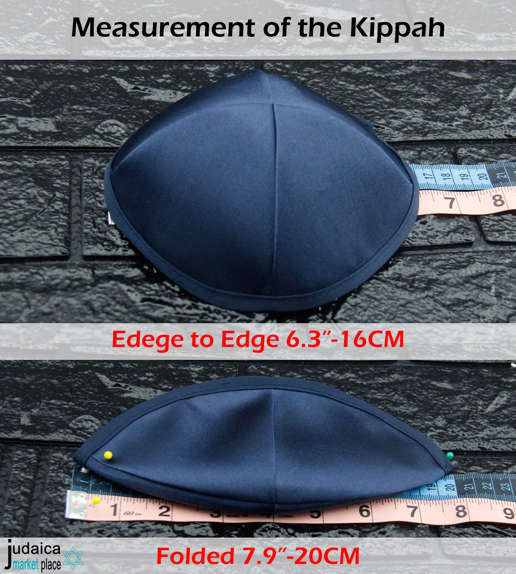 Black All Size Hand Made 100/% Cotton Yarmulke Jewish Kippah Kipa Judaica Yamaka Kippa Yamakah Yarmulka Hat Men Or Kids 24CM 9.4INCH