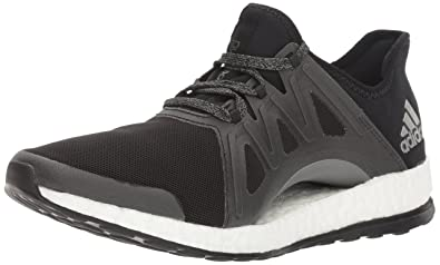 adidas Originals Women's Pureboost Xpose Running Shoe, Black/White/Dark  Shale, 5