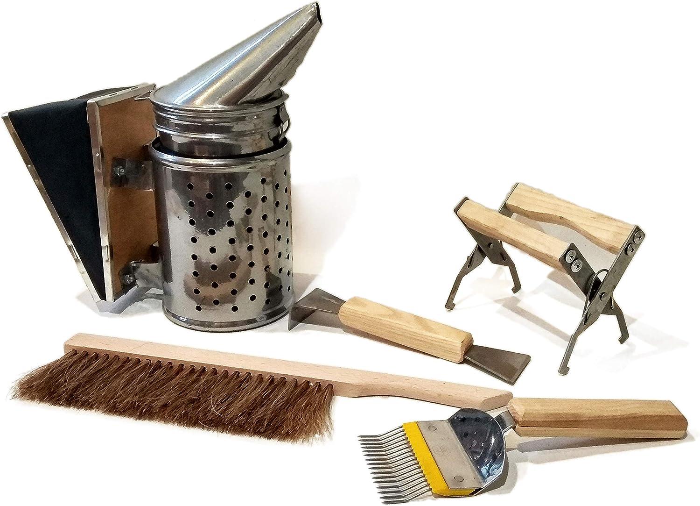 Beekeeping Tools Kit Bee Hive Smoker Scraper Beekeeping Equipment Beehive