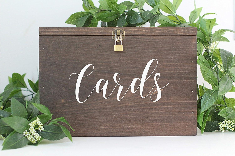 Wedding Card Holder.Rustic Wooden Card Box With Lock Rustic Wedding Decor Wedding Card Box Rustic Wedding Card Box Wedding Card Holder Personalized Card Box