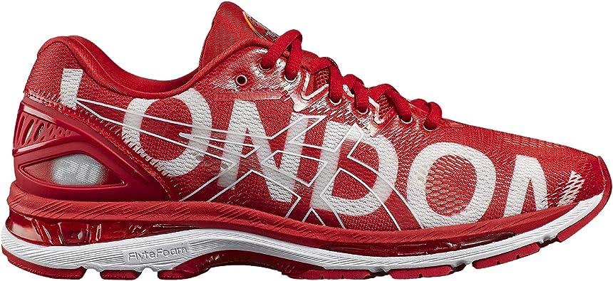 ASICS Damen Gel Nimbus 20 London Marathon Laufschuhe, RougeBlanc