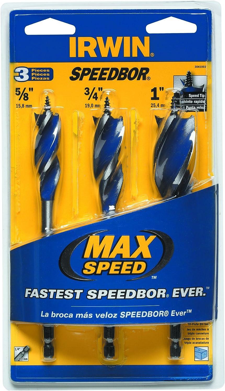 "Irwin 3//4/"" x 5 7//8/"" Speed Bore Wood Boring Spade Drill Bit"