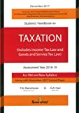 Manoharan Students handbook on Taxation Assessment Year 2018-19 (Old and New Syllabus)