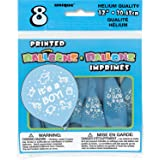 "12"" Latex Blue It's a Boy Baby Shower Balloons, 8ct"