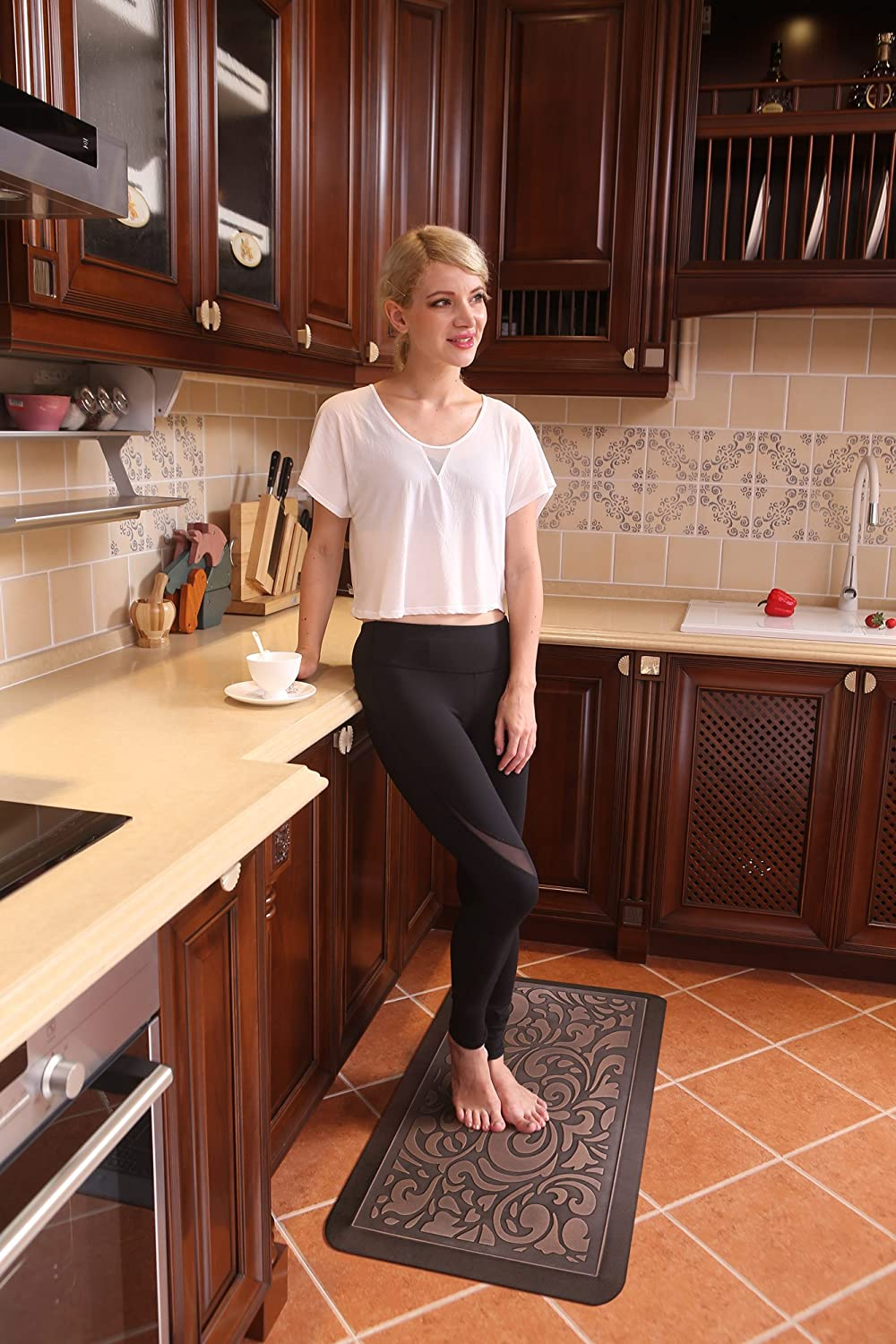 9/9 Inches Extra Thick Comfort Mat Butterfly Anti Fatigue Kitchen ...