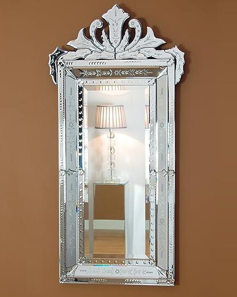 C M Salerno Crested Venetian Wall Mirror 120cm X 60cm Amazon Co Uk Kitchen Home