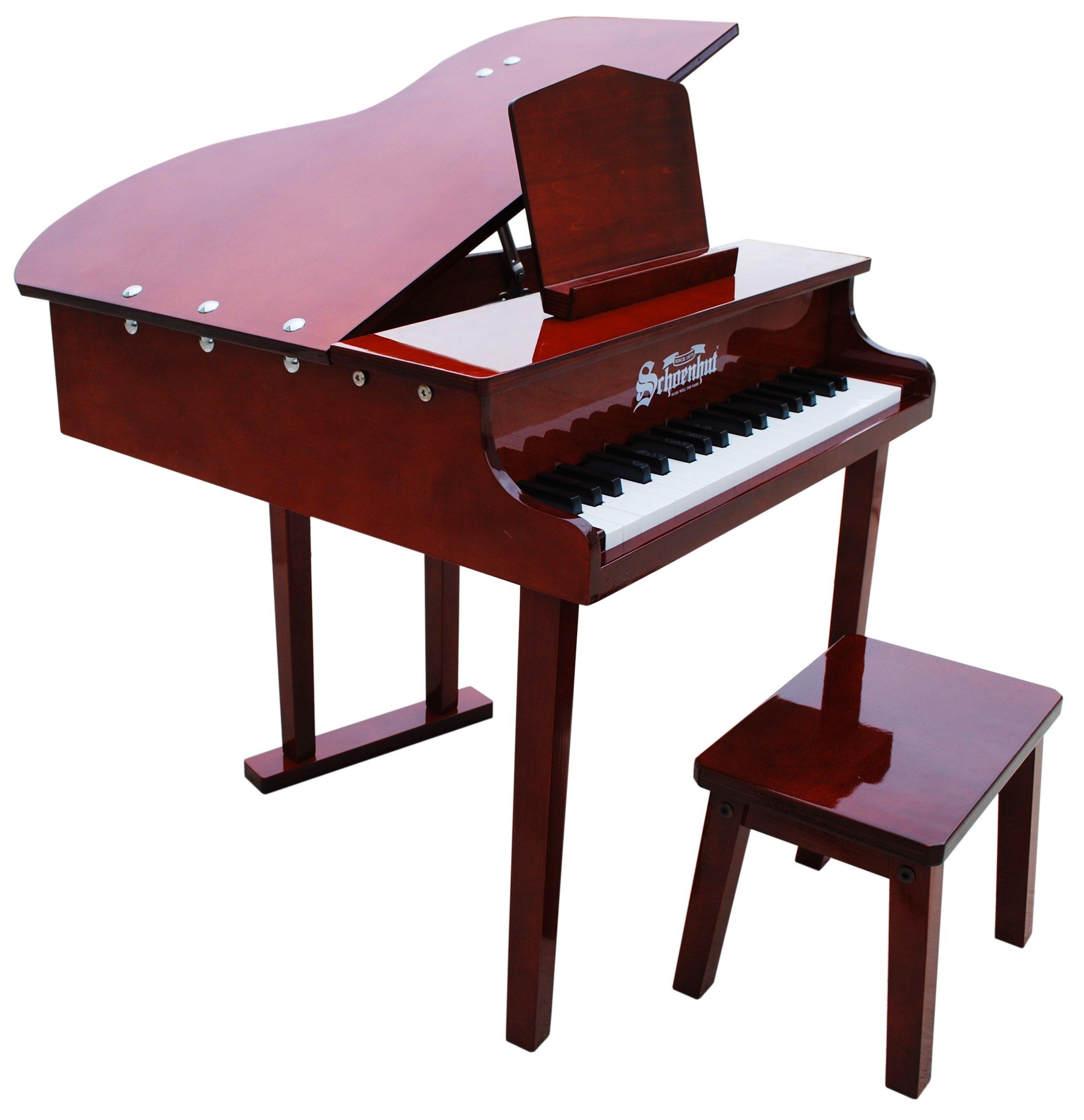 Schoenhut 37 Key Concert Grand Piano, Mahogany by Schoenhut
