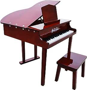 Schoenhut 37 Key Concert Grand Piano, Mahogany