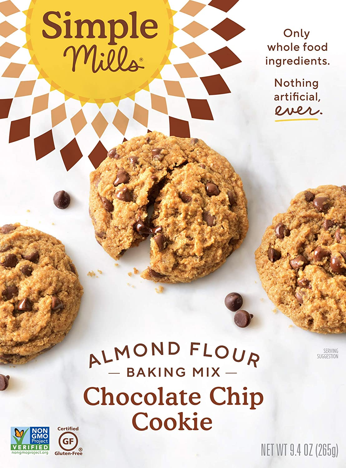 Simple Mills Almond Flour Baking Mix, Gluten Free Chocolate Chip Cookie Dough Mix, Made with whole foods, (Packaging May Vary) (170967-71714)