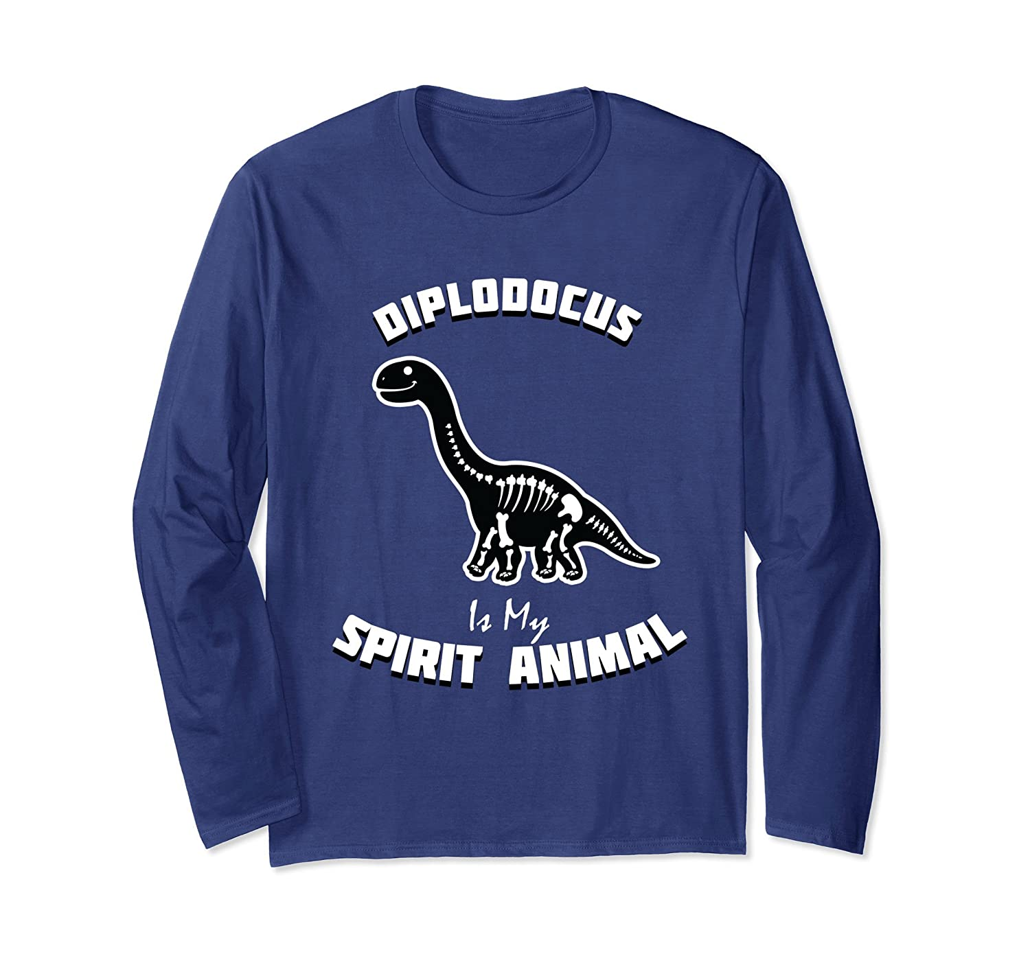 Diplodocus Is My Spirit Animal Long Sleeve Shirt-mt