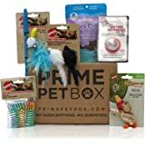 Prime Pet Box Premium Cat Gift Box Care Package with BareItAll Cat Treats