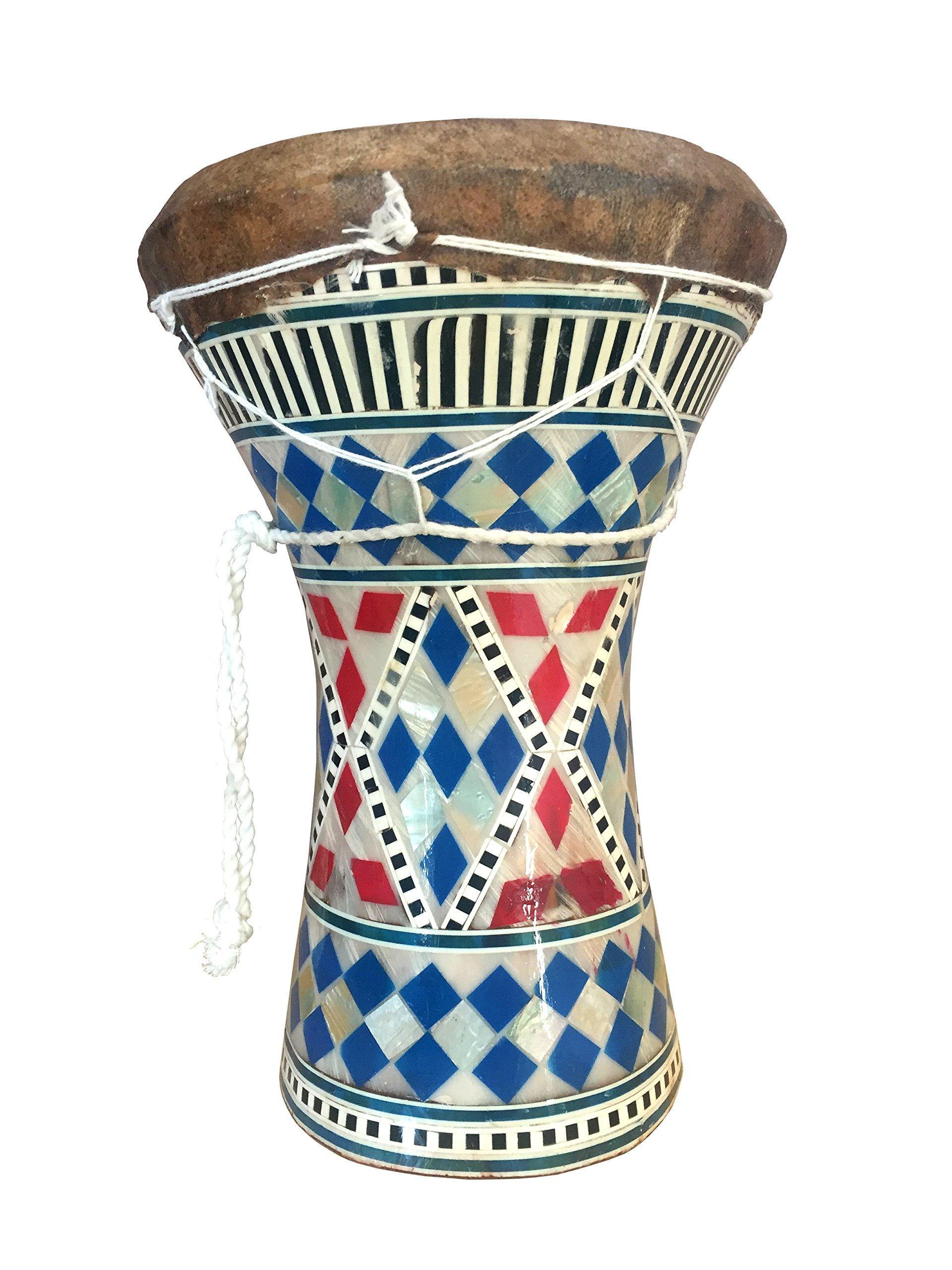 Mosaic Mother of Pearl Darbuka Drum Doumbek 8.5'' high by Jerusalem Drums