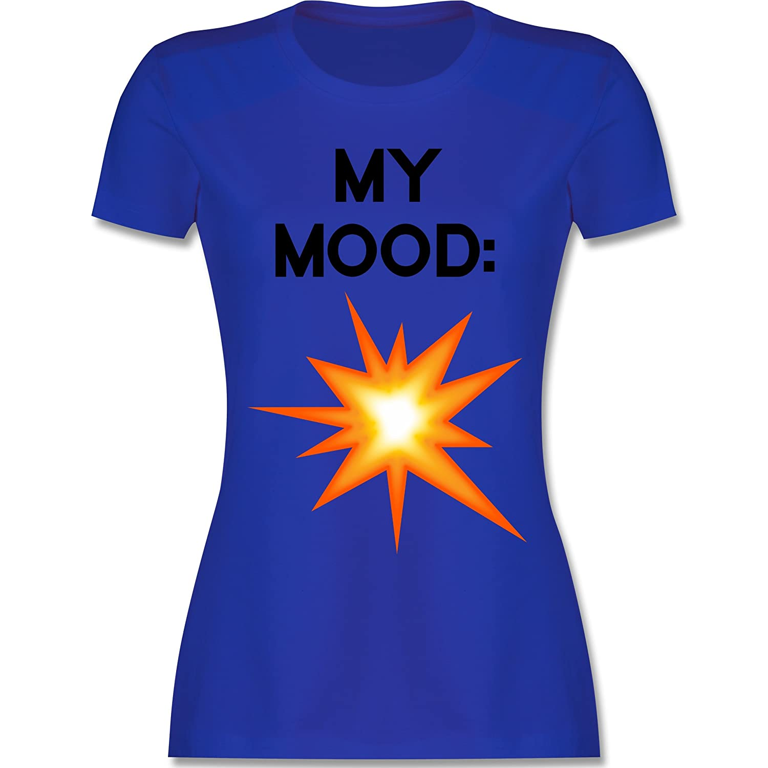 Shirtracer Statement Shirts - My Mood: Explosion - Damen T-Shirt Rundhals:  Shirtracer: Amazon.de: Bekleidung
