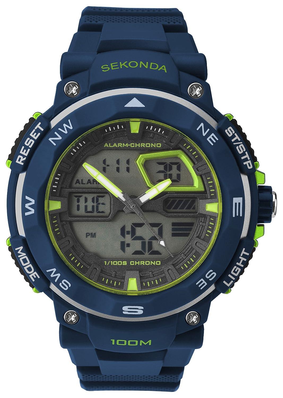 Sekonda Hombres reloj Digital con esfera pantalla Digital y negro correa de plástico negro 1163.05